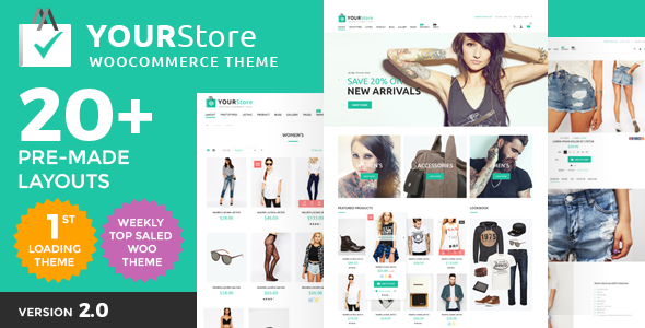 YourStore v2.0 — Woocommerce theme