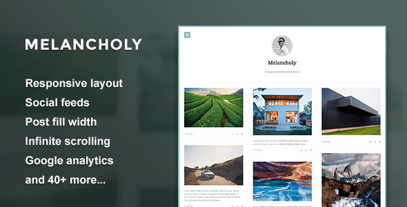 Melancholy — Minimal Fullscreen Tumblr Theme