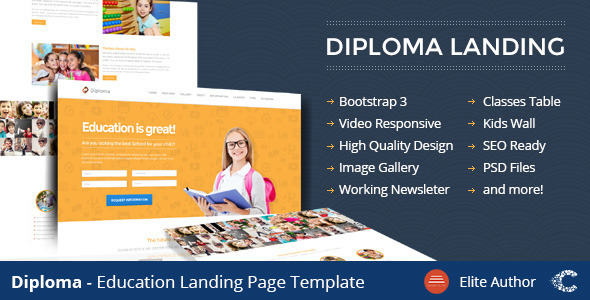 Diploma — Education Bootstrap Responsive Landing