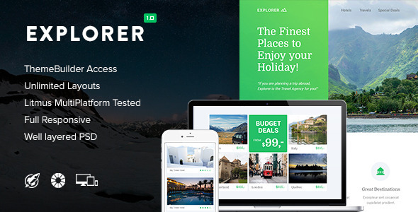 Explorer — Responsive Email + Themebuilder Access