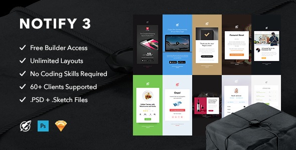 Notify3 — Notification Email + Themebuilder Access