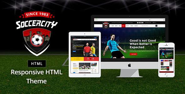 Soccer Sports — Soccer & Sports HTML Template