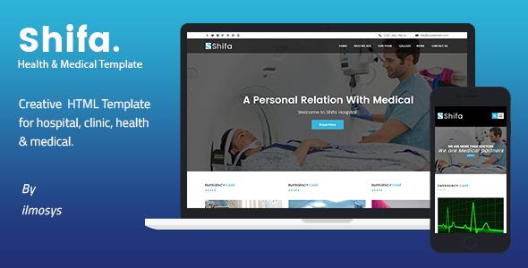 Shifa — Health & Medical HTML Template