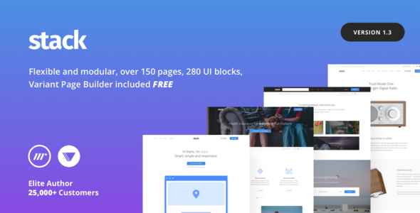 Stack v1.3.3 — Multi-Purpose HTML with Page Builder