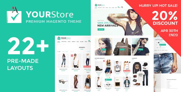YourStore v1.0.6 — Premium Multipurpose Magento theme
