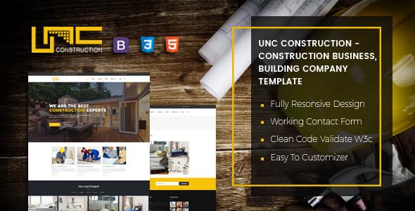Unc Construction — Construction Business, Building Company