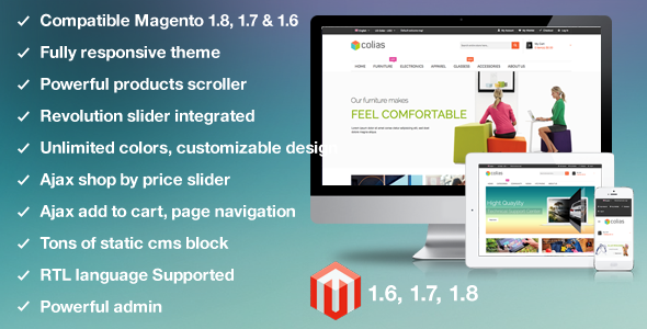 MT Colias v2.0.8 — Premium Responsvie Magento Theme