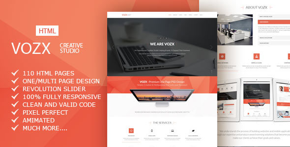 Vozx — Multipurpose Business HTML5 Template