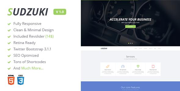 Sudzuki v1.0.1 — Premium One Page Bootstrap Template