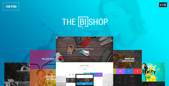 The Bishop — PSD Template