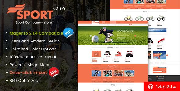 SM Sport v2.2.0 — Responsive Magento 1.9 and Magento 2 Theme