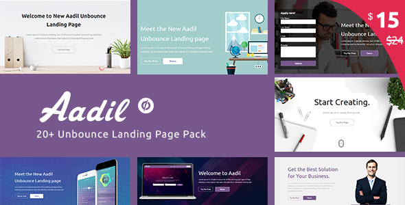 Aadil — Multi-Purpose Template with Unbounce Page Builder