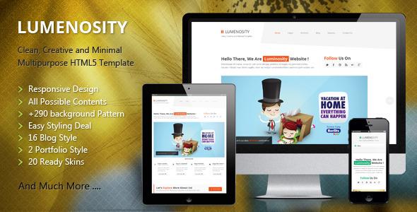 LUMENOSITY v1.2 — Multipurpose Responsive HTML5 Theme