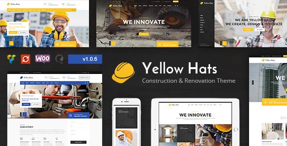 Yellow Hats v1.0.6 — Construction, Building & Renovation Theme