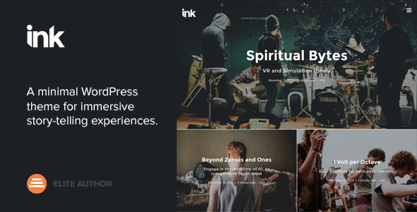 Ink v2.1.6 — A WordPress Blogging theme to tell Stories