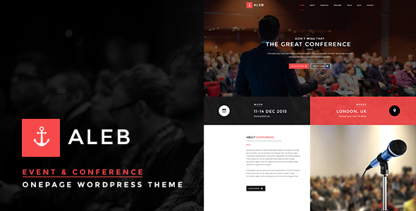 Aleb v1.1 — Event Conference Onepage WordPress Theme