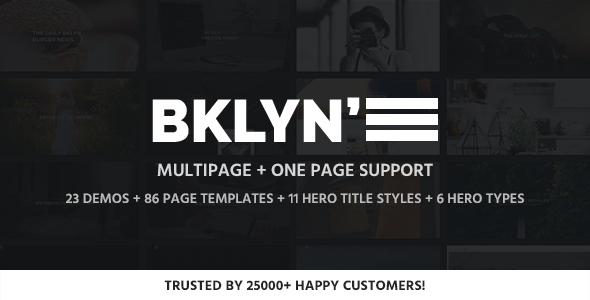Brooklyn v4.4.4 — Responsive Multi-Purpose WordPress Theme