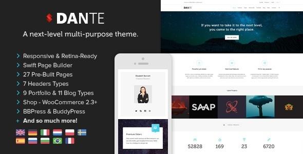 Dante v3.3.50 — Responsive Multi-Purpose WordPress Theme