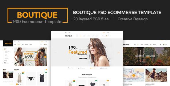 Boutique — Ecommerce PSD Template