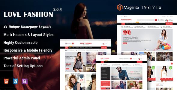 Love Fashion v2.1.0 — Responsive Fashion Store Magento 2 and 1 Theme