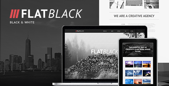 Flatblack — One Page Muse Template