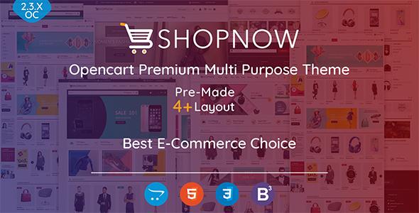 Shopnow — Premium Multi Purpose Opencart Theme