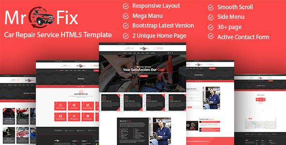 Mr Fix — Car Repair Service HTML5 Template