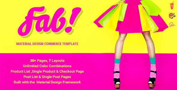 FAB! — Material Design Ecommerce HTML Template