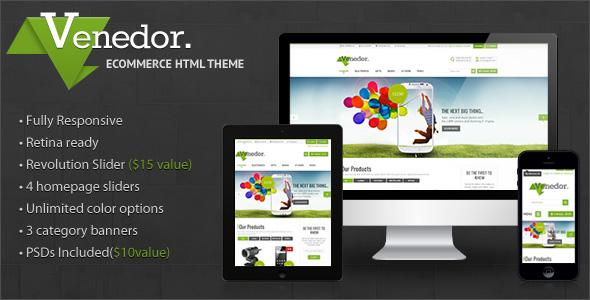 Venedor v1.6.1 — Premium Bootstrap Ecommerce HTML5 Template