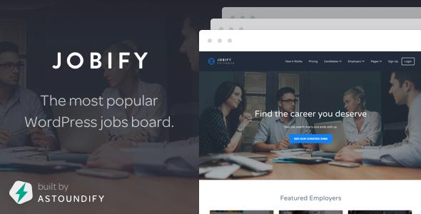 Jobify v3.7.0 — Themeforest WordPress Job Board Theme