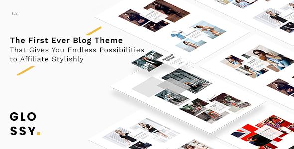 Glossy v1.1.0 — Fashion Blog Theme for Stylish Affiliation