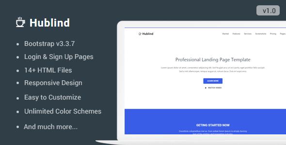 Hublind — Responsive Landing Page Template
