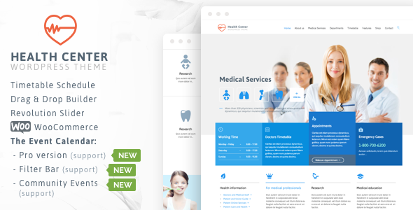 Health Medical Center v18 — Responsive Theme