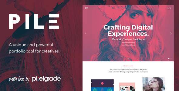 PILE v2.1.9 — An Uncoventional WordPress Portfolio Theme