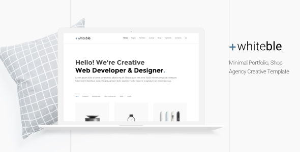 Whiteble — Minimal Portfolio, Agency, Shop, Creative HTML Template