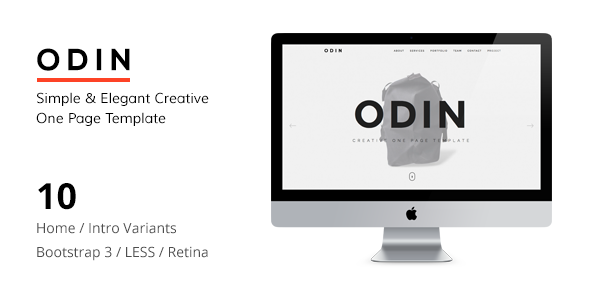 ODIN v1.5 — Simple & Easy Creative One Page Template