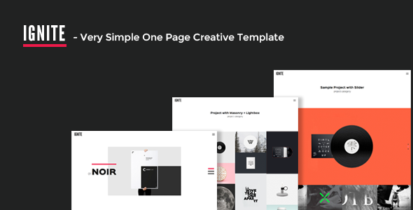 IGNITE — Very Simple One Page Creative Template