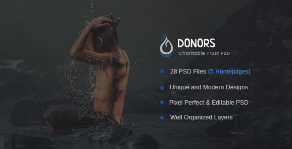 Donors — Multipurpose Non-profit PSD Template