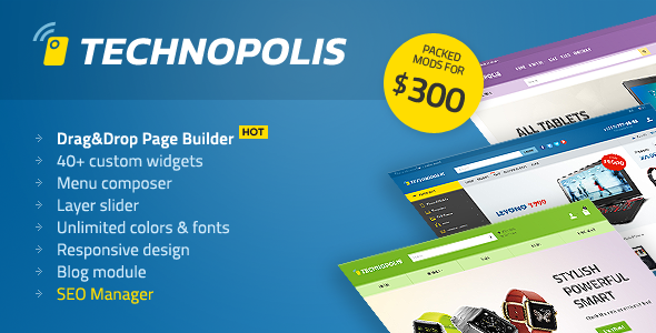 Technopolis v1.1.6 — Electronics Store OpenCart Theme