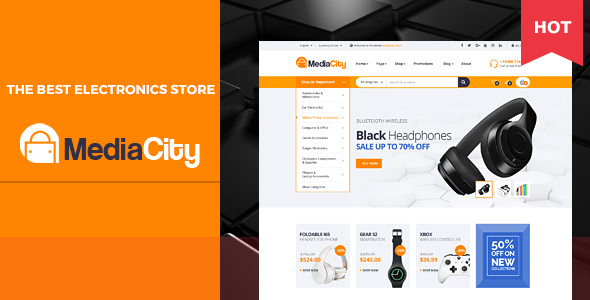 MediaCity — Technology Responsive Magento Theme