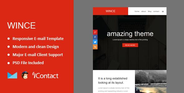 Wince — Responsive E-mail Template + Themebuilder Access