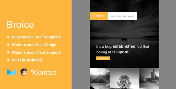 Broice — Responsive E-mail Template + Themebuilder Access