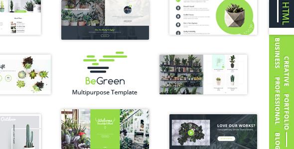 BeGreen — Multi-Purpose Template for Planter