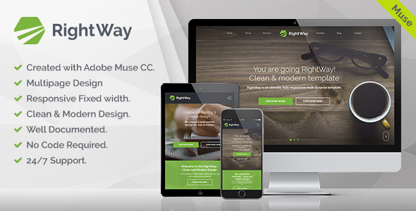 RightWay — Corporate Multipurpose Muse Template