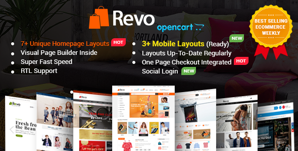 Revo v1.0.1 — Drag & Drop Multipurpose OpenCart Theme with Mobile-Specific Layouts