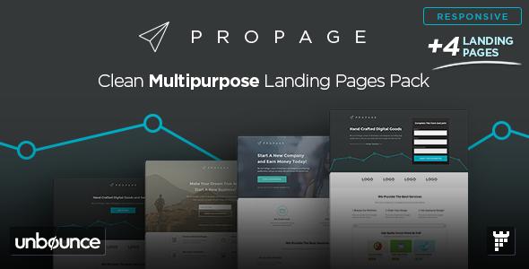 ProPage — Multipurpose Unbounce Template
