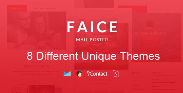 Faice Mail — 8 Unique Responsive Email set + Online Access