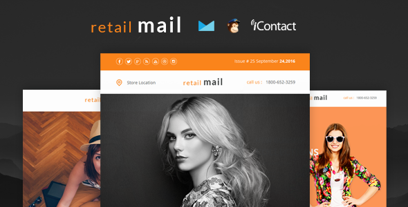 Retail Mail — Responsive E-mail Templates set + Online Access