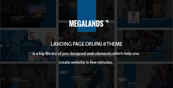MegaLands — Multipurpose Landing Pages Drupal 8 Theme