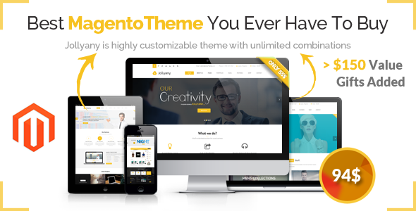 Jollyany v1.1.8 — Corporate Multi Purpose Magento Theme